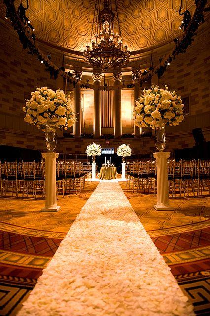 Gotham Hall New York City Wedding / decoración para la iglesia/templo de la boda