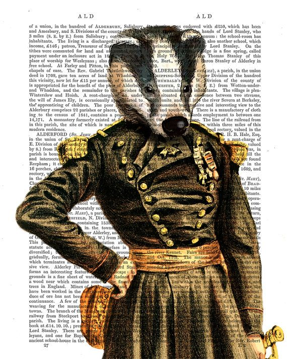 General Badger Art Print Acrylic Painting Giclee Mixed by FabFunky, $15.00