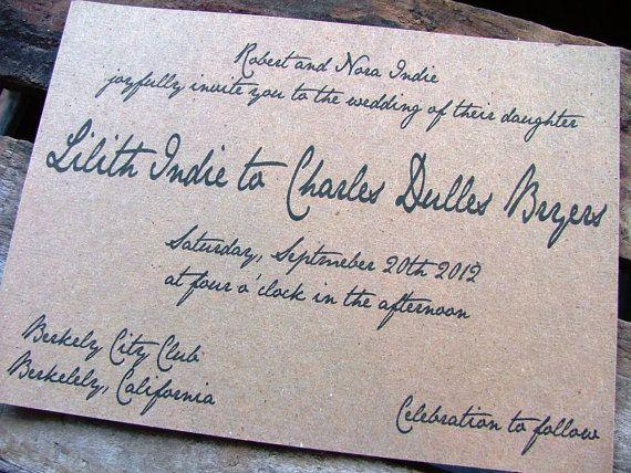 Invitation Note For Wedding: 17 Best Ideas About Handwritten Wedding Invitations On