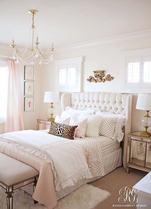 Pink And Gold Girl S Bedroom Bedrooms Decoration Ideas