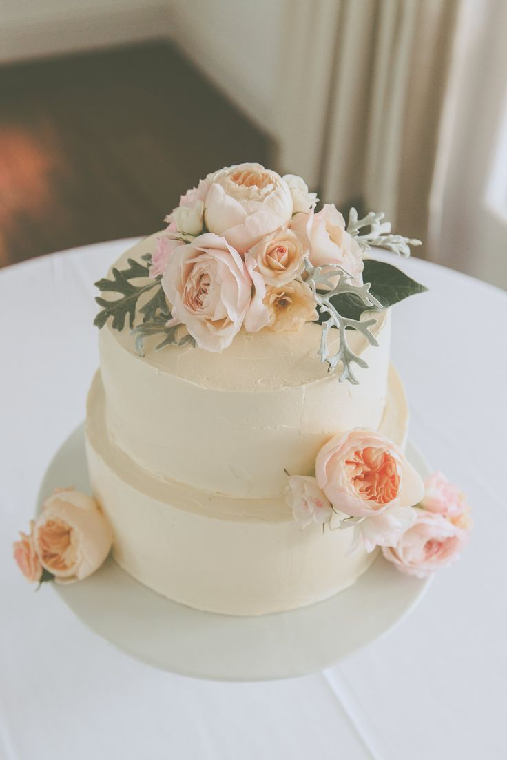 cake flowers with David Austen roses