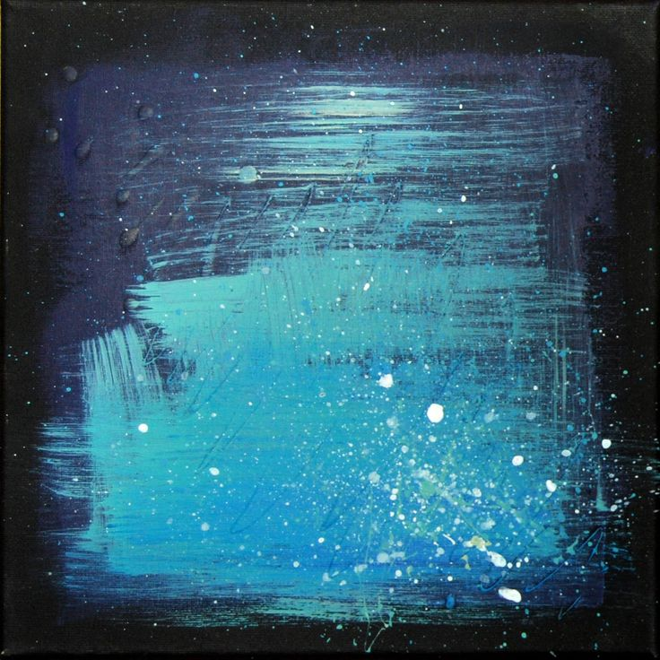 acrylic on canvas 30x30cm - #acrylic #canvas #paitning #abstract #winter #colour #blue #cold