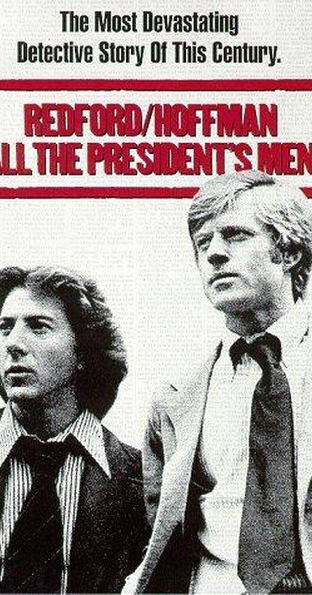 Directed by Alan J. Pakula.  With Dustin Hoffman, Robert Redford, Jack Warden, Martin Balsam. Reporters Woodward and Bernstein uncover the details of the Watergate scandal that leads to President Nixon's resignation.