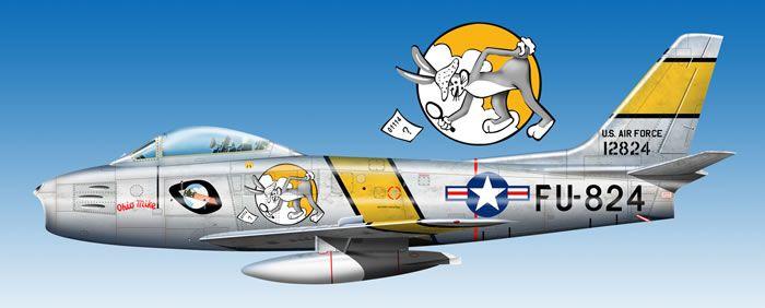 F-86F Sabre Artwork by Ncholas Gohin