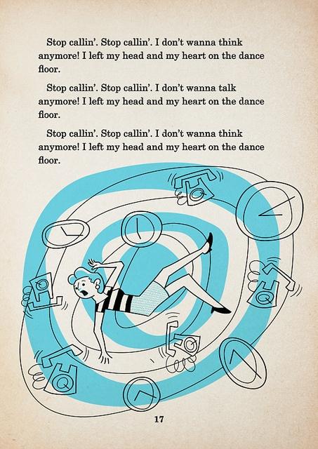 Andrew Kolb vintage inspired illustration to lady gaga lyrics