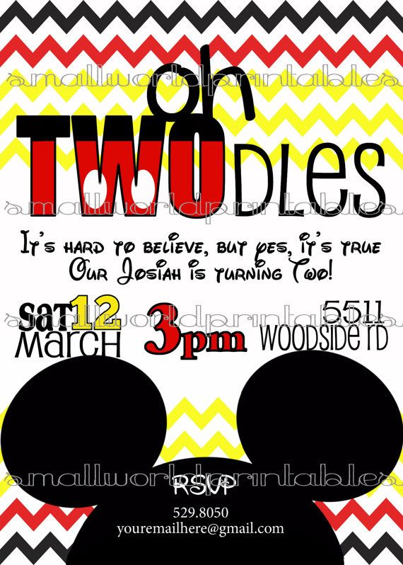 Oh TWOdles Invitations Toodles Mickey Mouse Clubhouse Boy