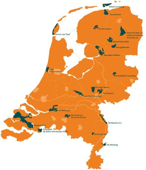 Met de camper door ons eigen landje rondgereisd in 2012. Deze reis had het thema Nationale Parken. Overzicht van alle 20 nationale parken in Nederland.