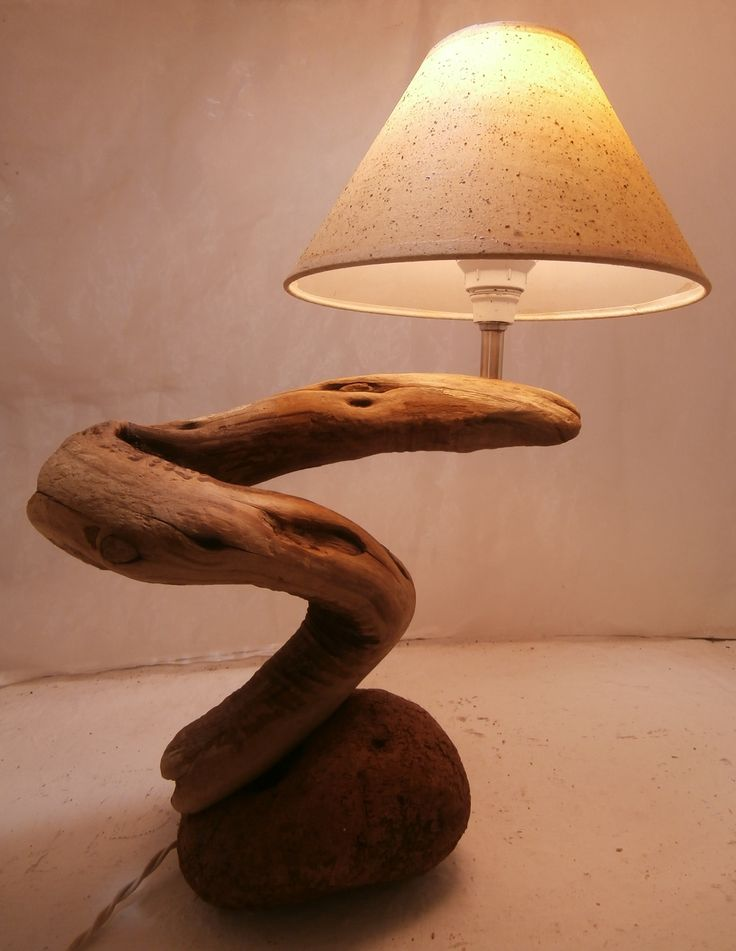 Driftwood snake lamp, by Driftwood Art, Skiathos