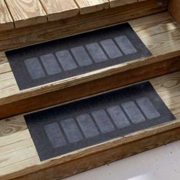 outdoor heavy duty rubber stair treads set of 2 welcome traction rh pinterest com