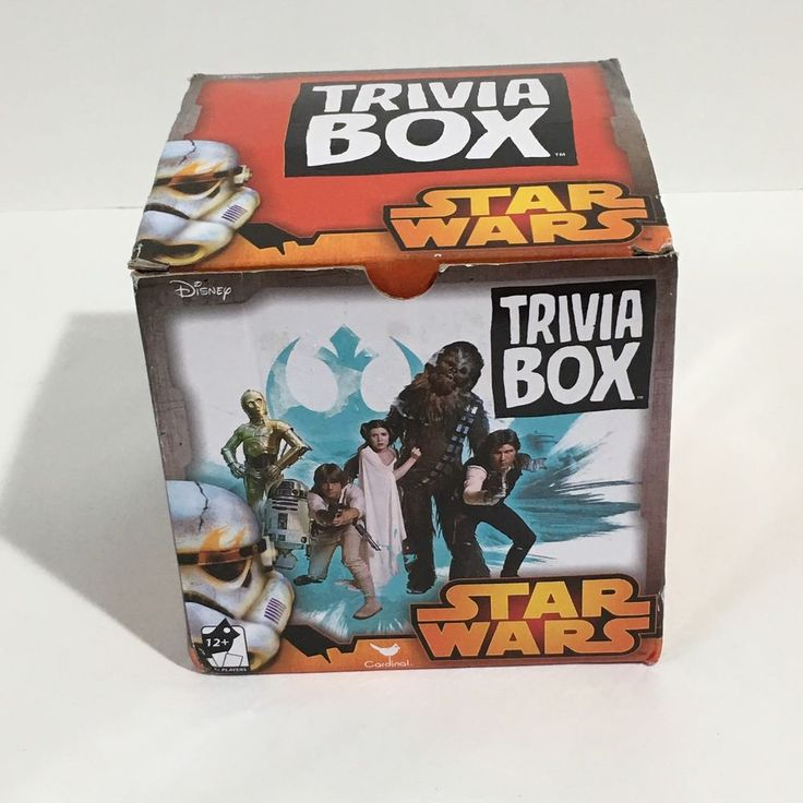 NEW Disney Star Wars Trivia Game Box with Character Cards #Disney