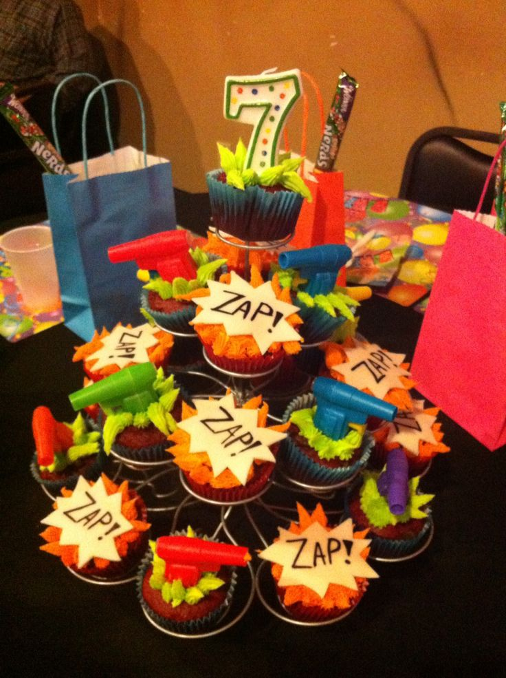 Laser tag cupcakes.
