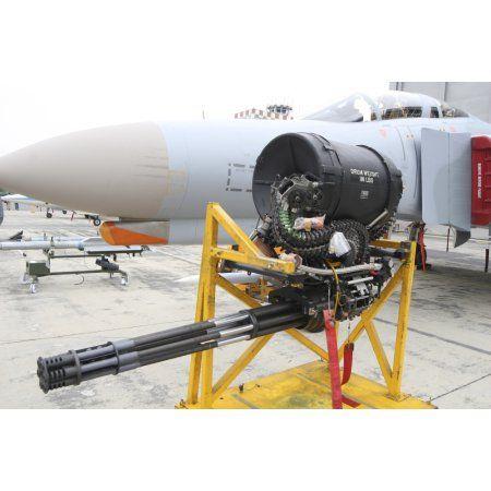 A M61 Vulcan rotary cannon of the F-4 Phantom Canvas Art - Timm ZiegenthalerStocktrek Images (18 x 12)