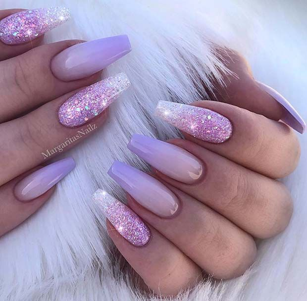 43 Nail Ideas To Inspire Your Next Mani Page 2 Of 4 Stayglam Lilac Nails Lilac Nails Design Lavender Nails