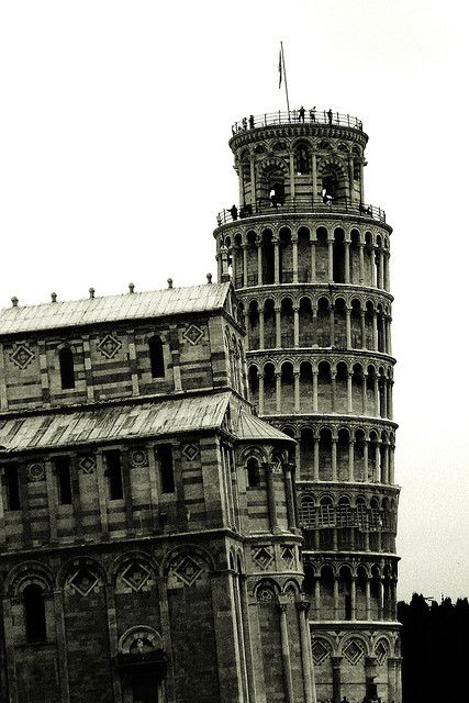 Maybe the tower is straight and the city is leaning... (Pisa, Italy).