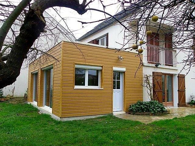 Extension en bardage rouge buffle à Combes La Ville (77) Extension - maison bardage bois couleur