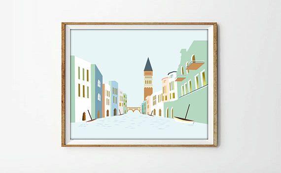 Venecia laminas decorativas ciudades poster Venecia