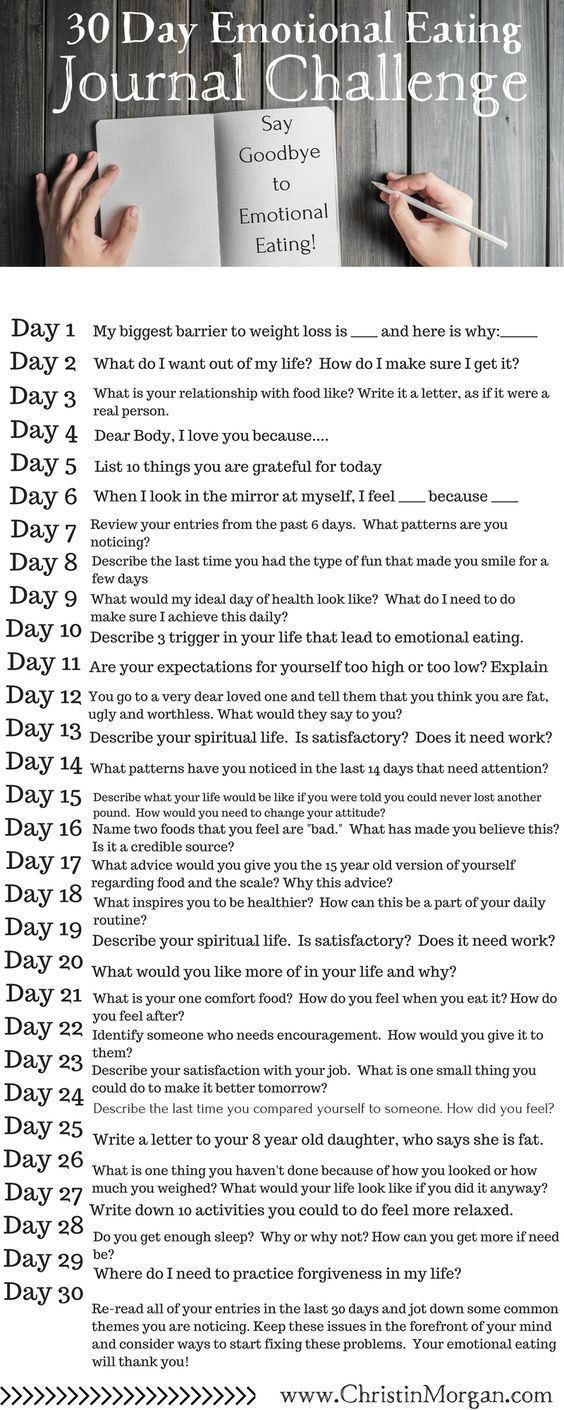 FREE DOWNLOAD: 30 Day Emotional Eating Journal Challenge: