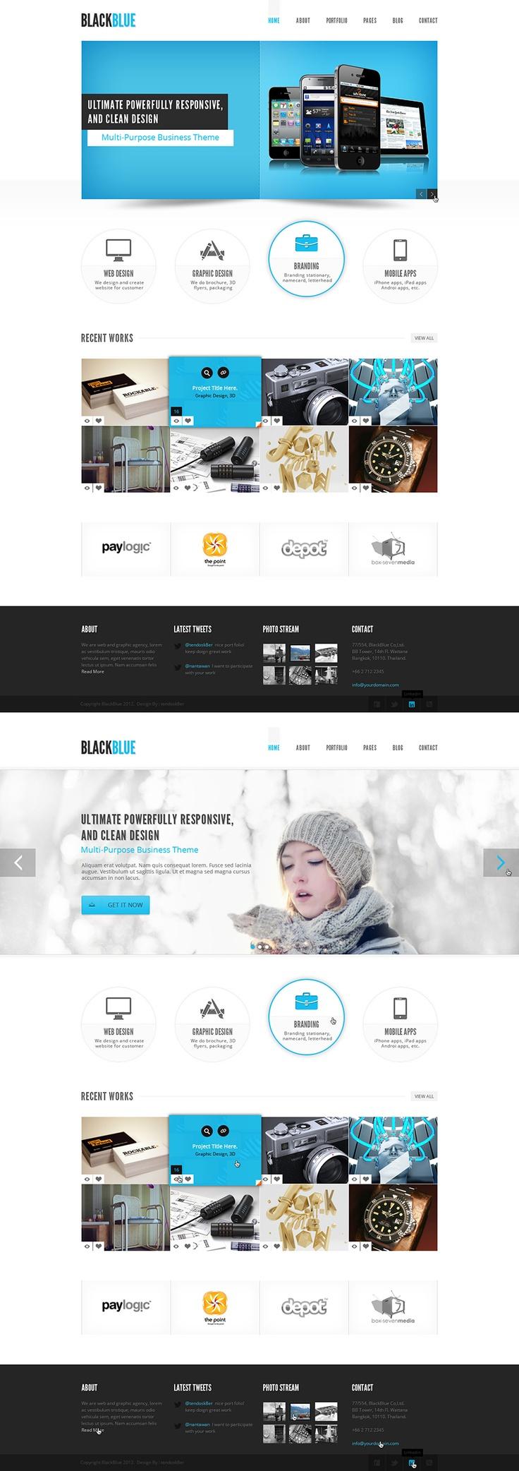 BlackBlue / tendosk8er / #blue #black #slider #clean