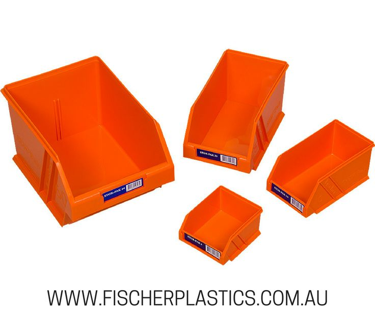 At Fischer Plastic Products we decided to add an orange option to our Stor Pak range, to assist in further colour coding your storage. Using different coloured bins can help to further organise and sort items.