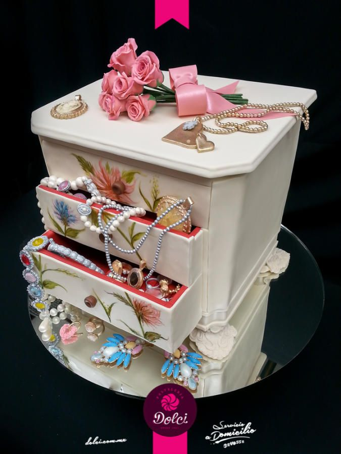How To Decorate Cake At Home With Gems : Jewelry Box Cake by Kalid M. Torres Cakes & Cake ...