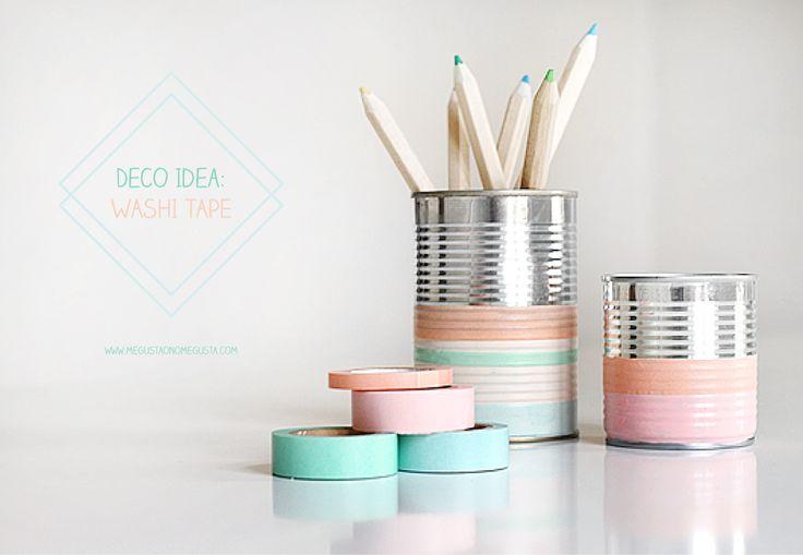 DIY:  washi tape deco ideas