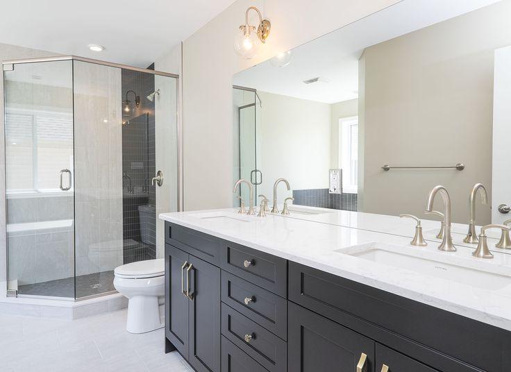 En-suite design, the Yorkville #newhome #Ensuite #design #bright #openconcept #walkinceramicglassshower