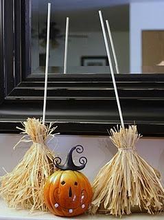 Witch's Brooms (Love the pumpkin!) Halloween