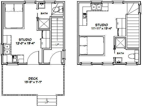 16x16 Duplex 16x16h2k 441 Sq Ft Excellent Floor Plans Floor Plans Studio Floor Plans Duplex Floor Plans