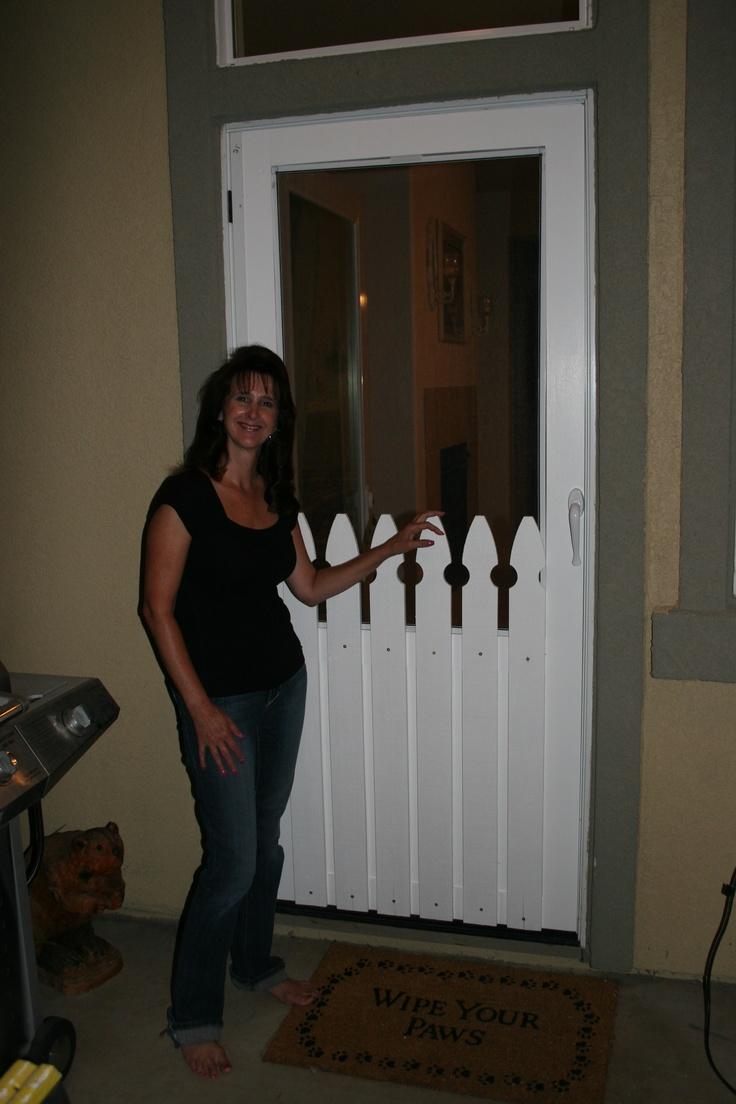 Custom screen door for an odd sized door.  I had help..