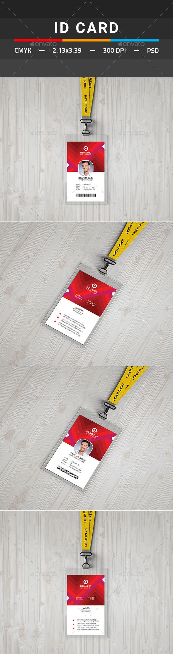 #ID #Card - #Miscellaneous Print Templates Download here: https://graphicriver.net/item/id-card/19713336?ref=alena994