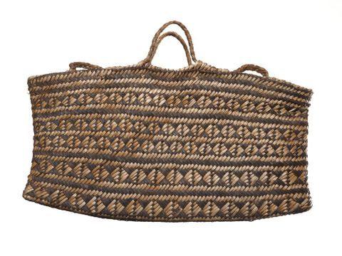 Kete whakairo (patterned bag)