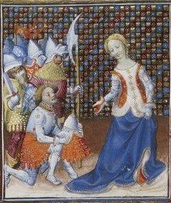 Giovanni Boccaccio, De Claris mulieribus; Paris Bibliothèque nationale de France MSS Français 598; French; 1403, 148r. http://www.europeanaregia.eu/en/manuscripts/paris-bibliotheque-nationale-france-mss-francais-598/en