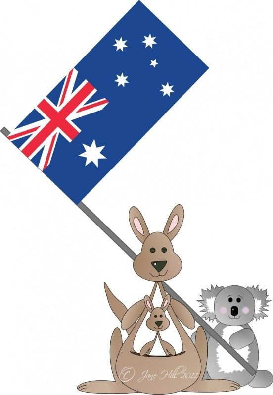 australia day flag template
