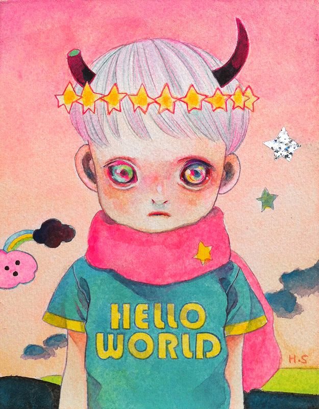 2013_6_1 - paper on watercolor - Hikari Shimoda (2013)