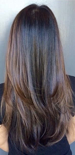 dark chocolate brunette highlights