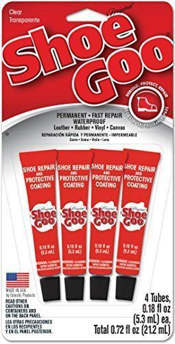Shoe GOO Mini Adhesive Repair For Boots and Rubber Seal Glue 4 Pack 0.18 fl. oz #Shoegoo