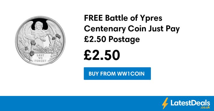 FREE Battle of Ypres Centenary Coin Just Pay £2.50 Postage at Ww1coin