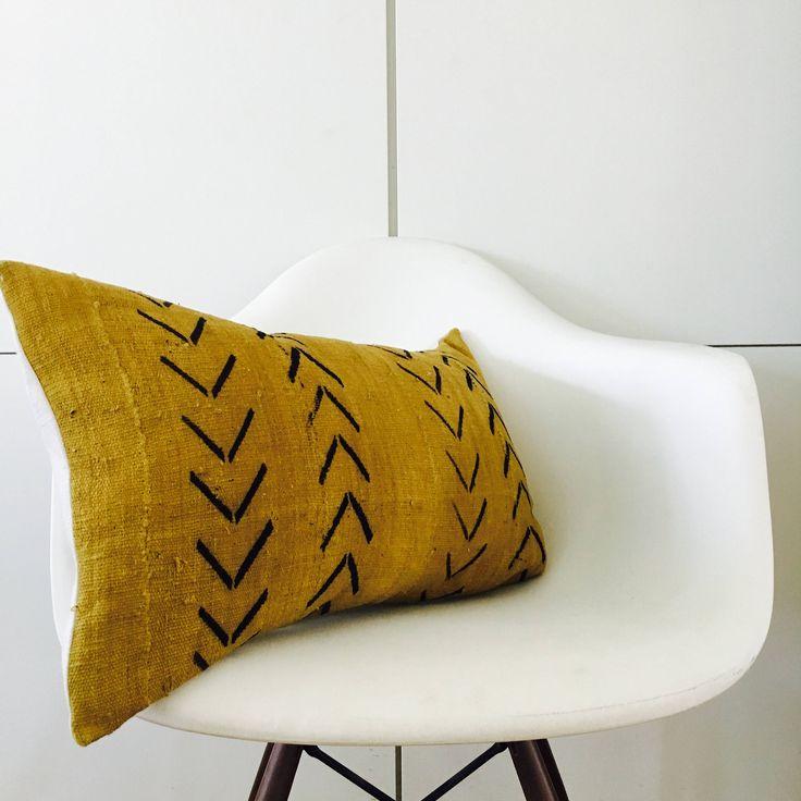 Boho Mustard Yellow Black Tribal Pillow Cover 14 Quot X24