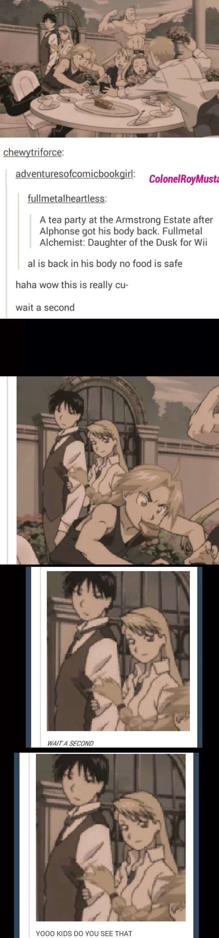 Look at Roy Mustang and Riza Hawkeye! Oh yeah! XD       _Fullmetal Alchemist Brotherhood