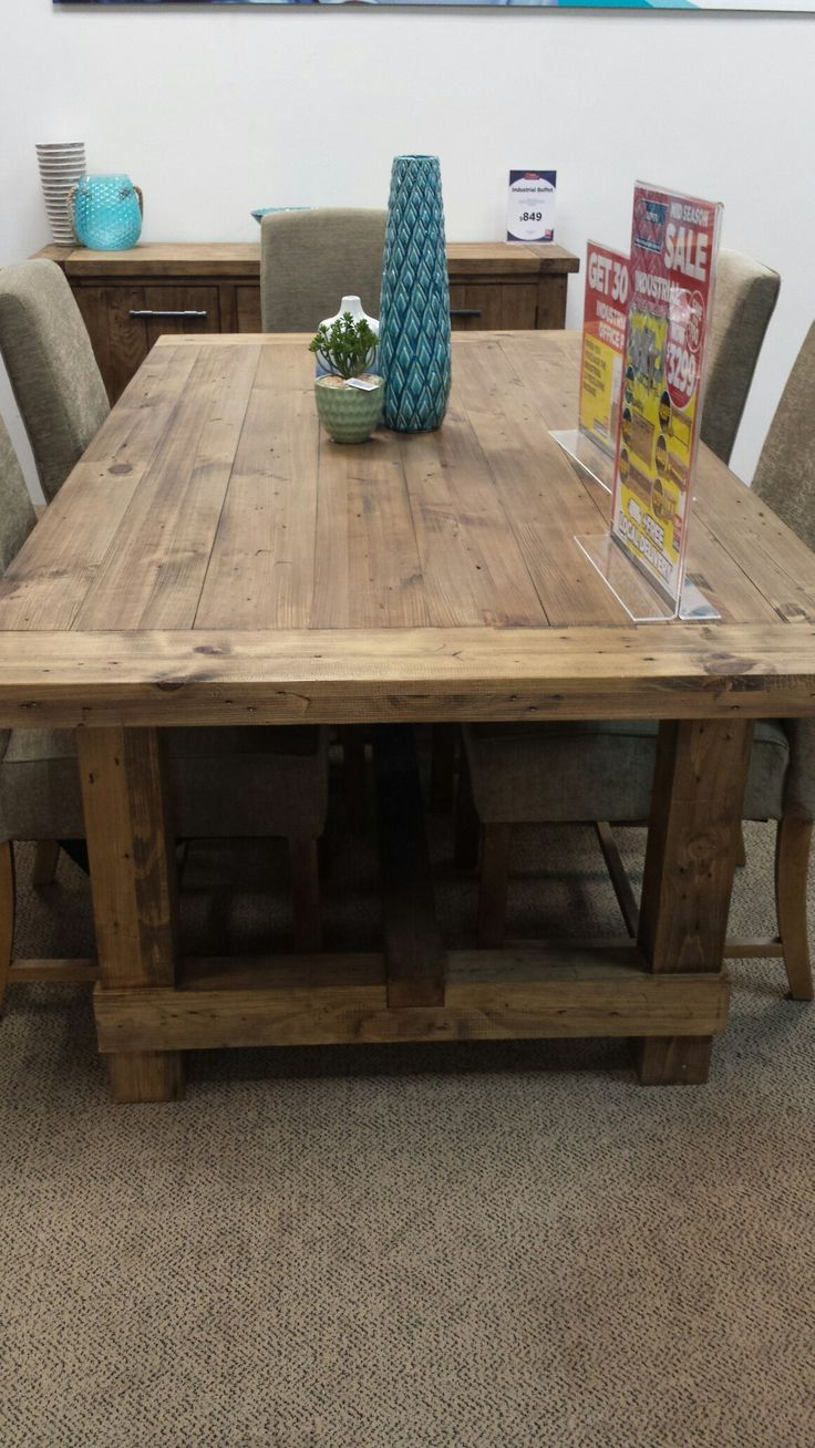 Super Amart Quot Industrial Quot Dining Table Furniture In 2019