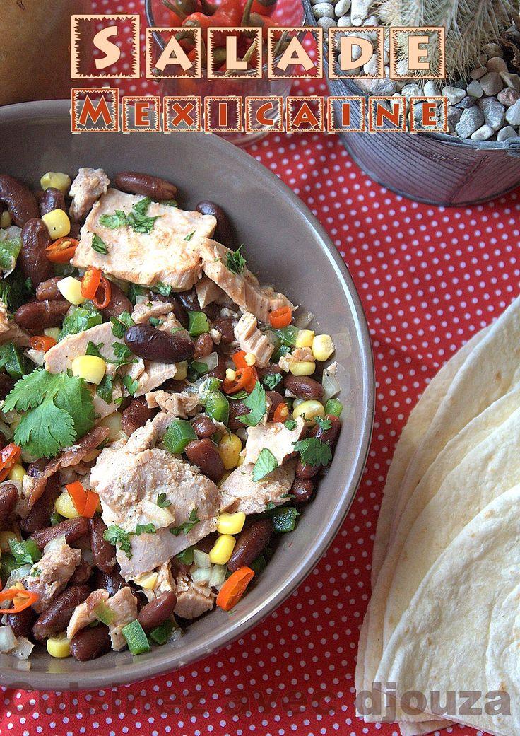 salade mexicaine aux haricots rouges et thon cuisine mexicaine pinterest food. Black Bedroom Furniture Sets. Home Design Ideas