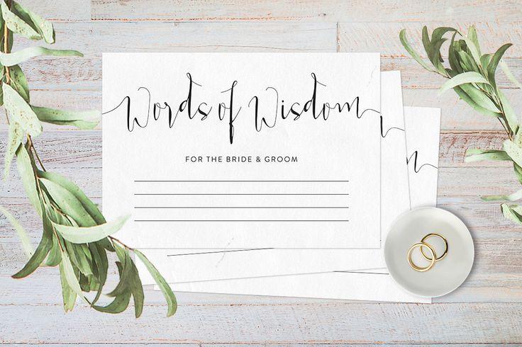 Words of wisdom cards, Wedding advice cards, Advice for the bride and groom, Advice cards wedding reception decor, Printable advice cards by ThePrintableShopcom on Etsy https://www.etsy.com/uk/listing/277636960/words-of-wisdom-cards-wedding-advice