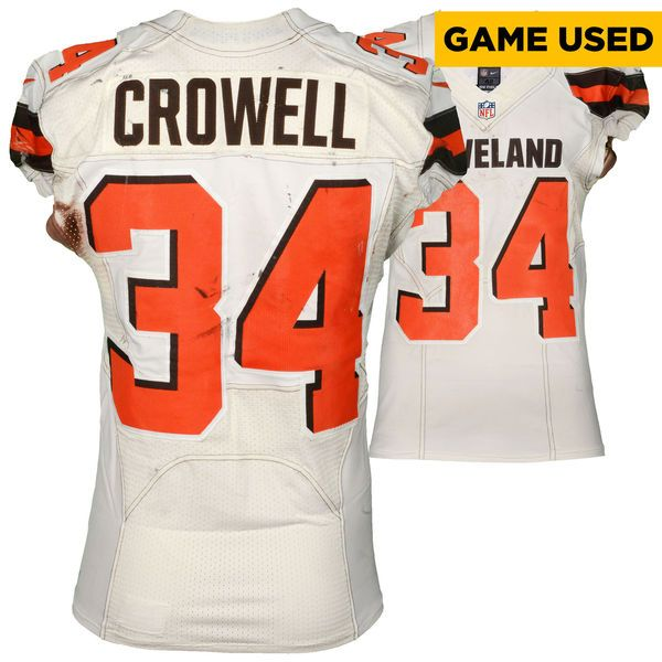 Isaiah Crowell Cleveland Browns Fanatics Authentic Game-Used White #34 Jersey vs Cincinnati Bengals On October 23, 2016 - $799.99