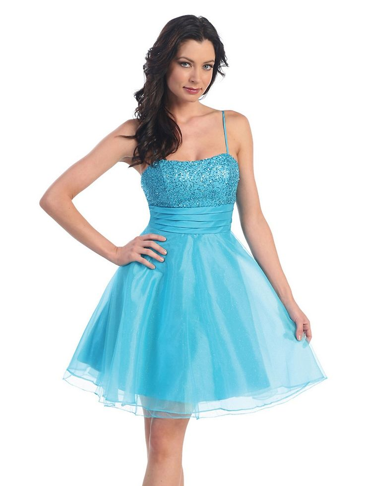 Short-Blue-Satin-Dress-for-party