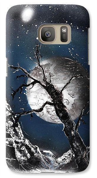 Night Of Wolves Galaxy S7 Case Printed with Fine Art spray painting image Night Of Wolves by Nandor Molnar (When you visit the Shop, change the orientation, background color and image size as you wish)