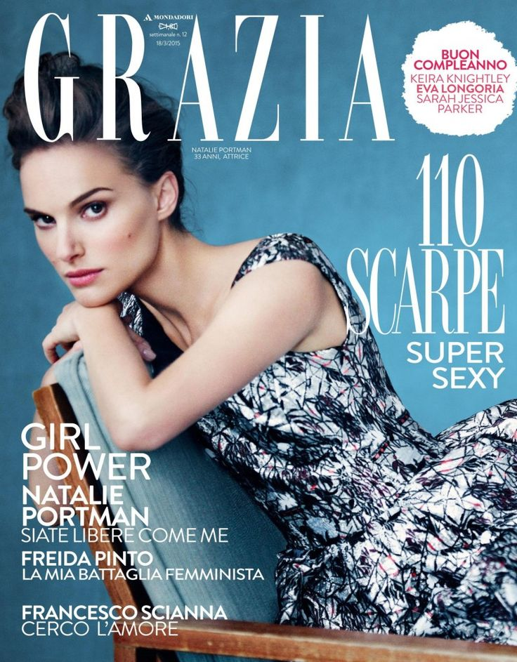 Natalie Portman by Paolo Roversi for Grazia Italy 18th March 2015 Coverstory