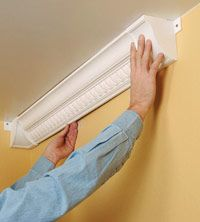 Crown molding - another snap on plastic/foam easy install method from focal point products?