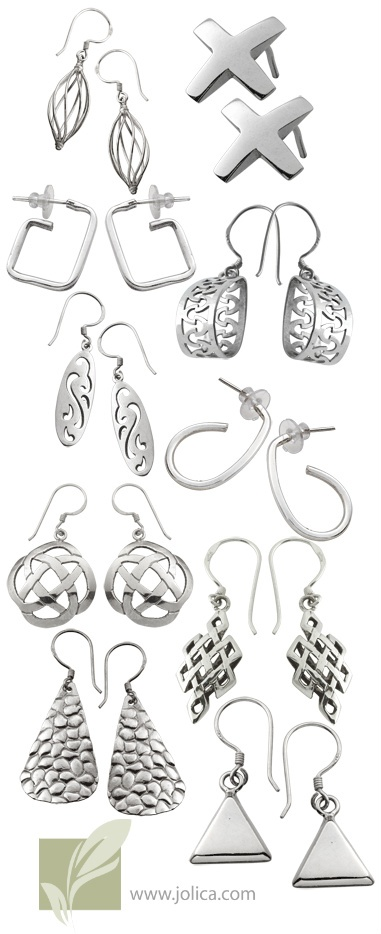 Like what you see?  Our May Newsletter will include a coupon for 25% off of these Sterling Silver Earrings.  Sign up today at www.jolica.com  Scroll to the bottom and click sign up.