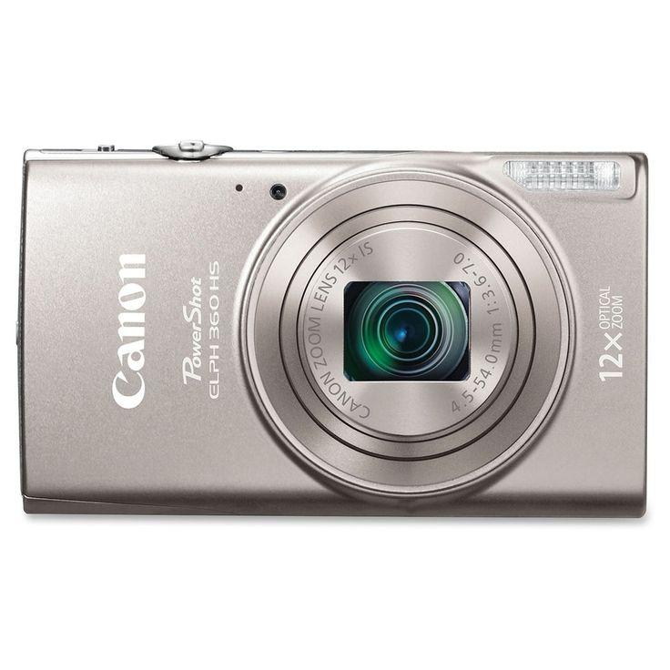 Canon PowerShot 360 HS 20.2 Megapixel Compact Camera - Silver - 3 LCD - 16:9 - 12x Optical Zoom - 4x - Optical (IS) - TTL - 5184 x 3888 Image - 1920 x 1080 Video - HDMI - PictBridge - HD Movie Mode - Wireless LAN