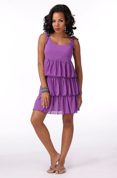 Elegantly Styled 3 Tiered Dress  Price: $44.99
